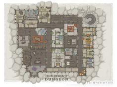 Wizards Academy - Windjina's Dungeon by SirInkman.deviantart.com on @DeviantArt