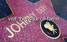 visiting Hollywood and seeing all the Highlights including the walk of fame would be a amazing stop on a road trip