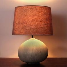 Dahlia Scratched Resin Table Lamp