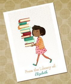 Personalized children's bookplates| Fox and the Teacup on Etsy