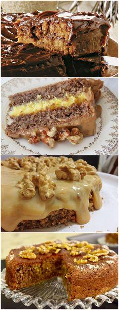 Super fácil de preparar esse bolo de nozes! Aqueça o forno a 180°C. Bata as claras em neve com a metade do açúcar. #receita#bolo#torta#doce#sobremesa#aniversario#pudim#mousse#pave#Cheesecake#chocolate#confeitaria