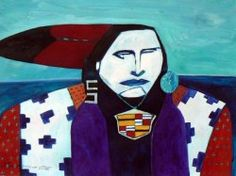 Linus Woods paintings | Bearclaw Gallery Edmonton - RETURN TO THE BEARCLAW CAMP