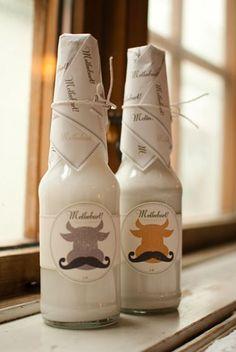 Milk packaging design directed towards students.