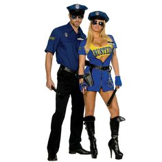 Sexy Busted Police Officer Costume from BuyCostumes.com #Costume #Police #Sexy #CoupleCostume