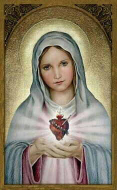 Immaculate Heart of Mary Holy Art Portraits of Saints