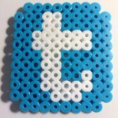 Twitter logo hama beads by perler_bead_ideas