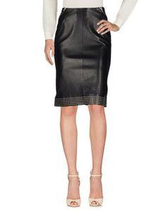 ALAÏA Knee Length Skirt. #alaïa #cloth #dress #top #skirt #pant #coat #jacket #jecket #beachwear #