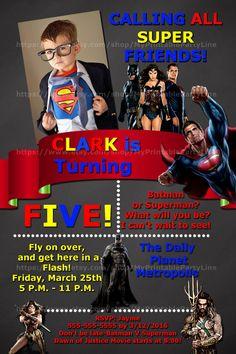 Batman VS Superman-Superhero by MyPrintablePartyLine on Etsy