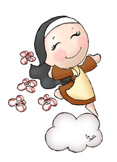 Santa Teresinha do Menino Jesus St Therese, Cartoon Pics, Creative Crafts, Holy Spirit, Hello Kitty, Saints, Images, Clip Art, Christian