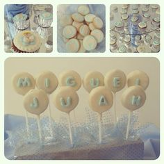 Oreo pops baby shower