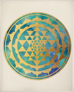 Sacred Geometry Mandala - Art Print