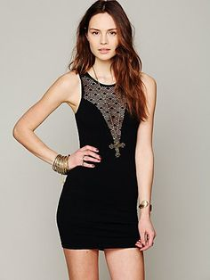 Deep V Textured Bodycon #freepeople