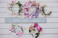 Bridal Shower Inspiration by Ashdown and Bee Flower Crowns