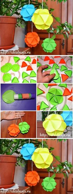 How to make Paper craft Ornaments step by step DIY tutorial ... ... I love this! See more awesome stuff at http://craftorganizer.org