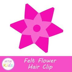This Felt Flower Hair Clip is a great kids craft for all levels of young stitchers! Cute Crafts, Diy And Crafts, Crafts For Kids, Felt Flowers, Flowers In Hair, Teaching Kids, Kids Learning, Craft Projects, Sewing Projects