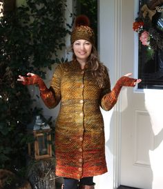 Hand Knitting, Dresses With Sleeves, Coat, Long Sleeve, Projects, Fashion, Log Projects, Moda, Sewing Coat