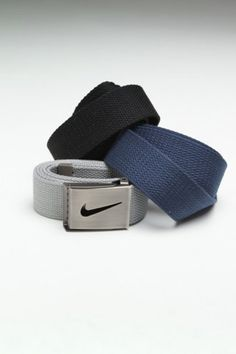 Nike 3-Piece Web Belt Pack Navy/Black/Grey