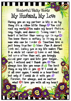 F970 - My Husband, My Love 8x10 Gifty Art
