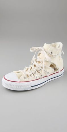 What Goes Around Comes Around Torn Converse High Top Sneakers