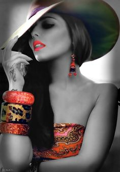 Beautiful colorful pictures and Gifs: Touch of Colour-Color Splash Splash Photography, Color Photography, Black And White Photography, Color Splash, Color Pop, Coffee And Cigarettes, Sexy Girl, Poses, Black White Photos