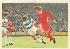 001 - Review Of The Season - Queen's Park Rangers and Liverpool opened the season playing each other and ended it challenging for the Championship. Action from the meeting on August 16th 1975.