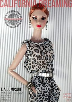 LA JUMPSUIT LEOPARD EDITION | Flickr - Photo Sharing! Barbie Top, Barbie Dress, Barbie Clothes, Barbies Dolls, Dress Up, Fashion Royalty Dolls, Fashion Dolls, Doll Hair, Beautiful Dolls
