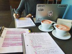 coffee, school, and study image