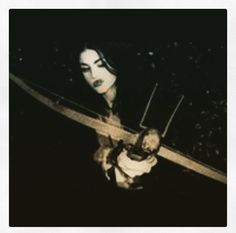 Frances with a crossbow