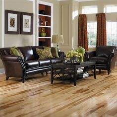 hickory flooring in kitchen | Hickory Hardwood Floors | Hickory | Hardwood | Wood | Floors| Install