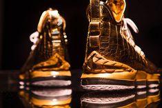 on sale b1845 f2ab3 The Shoe Surgeon   Nike Team up on a Gold   Diamond-Dipped Nike LeBron 15