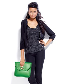 fall fashion 2012: color coded  Let your accessory do the color thing - think bright green, purple, and blue!