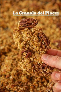 La Granola del Placer (sin gluten, paso a paso) – Tarthélémy Tostadas, Sin Gluten, Cereal, Breakfast, Food, Butter, Coconut Oil, Rolled Oats, Essen