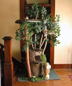 how to make a cat tree that looks like a tree