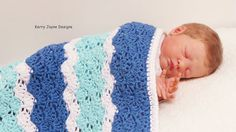 CROCHET BLANKET PATTERN By Kerry Jayne Cotton by KerryJayneDesigns
