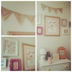 Wall collage - vintage frames - nursery