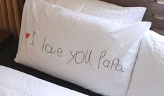 I Love You, Daddy Pillowcase: Simple Gift | CBC Parents