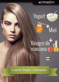 Mascarilla casera para cabello graso - Care - Skin care , beauty ideas and skin care tips Beauty Secrets, Beauty Hacks, Makeup Tips, Hair Makeup, Silk Hair, Tips Belleza, Belleza Natural, Hair Care Tips, Hair Health