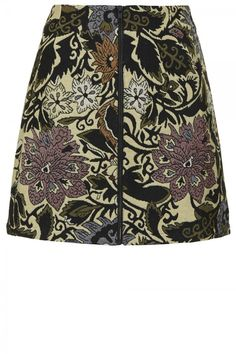 Love this for A/W14 with a roll neck and knee high boots - Topshop Jacquard Zip A-Line Skirt, £38