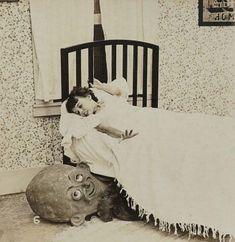 cartoline stereoscopiche usate per spaventare i bambini all'inizio del 900