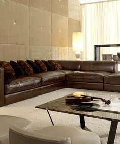 Napa Oversized Leather Sectional leatherfurnitureexpocom