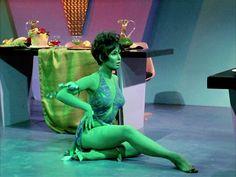 green woman on star trek | ... :Yvonne Craig as the Orion slave girl Marta in Star Trek