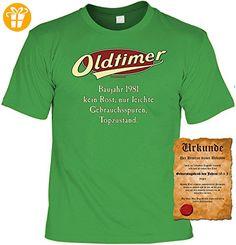 Geburtstagsgeschenk T-Shirt mit Urkunde Oldtimer Baujahr 1981 Geschenk zum 36. Geburtstag 36 Jahre Geburtstagsgeschenk zum 36 Geburtstag - Shirts zum geburtstag (*Partner-Link)