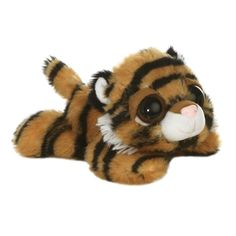 Ben the Plush Tiger Dreamy Eyes Laying Stuffed Wild Cat by Aurora at... ($4.99) ❤ liked on Polyvore featuring home, stuffed animal and tiger