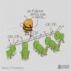 Imagen de Wawa wiwa, chiste, abeja, grillos and cute
