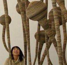 Tracy Luff's cardboard sculpture