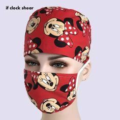Printed Cap Hospital Laser Eye Operating Room Hats Doctors Nurses Unisex Medical Surgical Bea… - New ideas Crochet Mask, Crochet Faces, Diy Mask, Diy Face Mask, Face Masks, How To Clean Hats, Scrub Hat Patterns, Scrubs Pattern, Mouth Mask Design