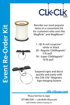 Shop ceiling sign hanging hardware and systems that work easily and are safer than ladders. Great for retail, events, schools, factories, and more! Hanging Signs, Most Popular, Starter Kit, Event Planners, Retail Stores, Office Organization, Prom, School, Products