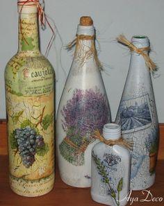 Todos os tamanhos | Decoupage bottles | Flickr – Compartilhamento de fotos!