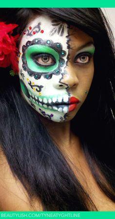 sugar skull makeup sugar skull tynea ts tyneatyghtline photo - Skull Halloween Decorations