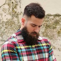 Hair Beard Checked shirt Man Style